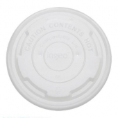 Karat Earth - Paper Food Container Lid, Fits 8 oz Container, Compostable