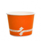 Karat - Hot/Cold Paper Food Container, 16 oz Orange