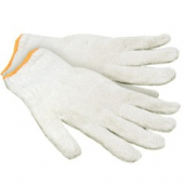 Gloves, Large, Medium Weight Cotton/Polyester String Knit
