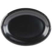 Genpak - Platter, Black Laminated Foam Oval, 8.5x11.5