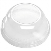 International Paper - Dome Lid with Large Opening, Clear PET Plastic, 12-24 oz