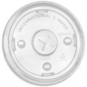 International Paper - Cold Cup Lid, 16-24 oz Clear PET Plastic