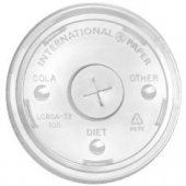 International Paper - Cold Cup Lid, 32 oz Clear PET Plastic