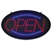 "Winco - LED ""Open"" Sign with 3 Patterns, 22.75x1.75x14"