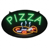 "Winco - LED ""Pizza"" Sign with 3 Patterns, 22.75x1.75x14"