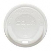 Solo - Lid, White Poly Gourmet Hot/Cold Drink Lid with Sip Hole, Fits 12-24 oz
