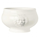 World Tableware - Lions Head Soup Bowl, 15 oz Ultra Bright White Porcelain, 5.75""
