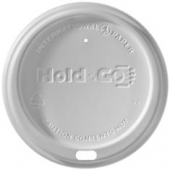 "International Paper - Hot Cup Lid, White Dome Sipper ""Hold & Go"""