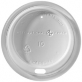 Dome Sipper Hot Cup Lid, White, Fits 12 oz Tall Cups