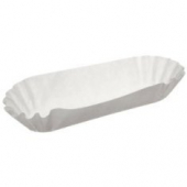 Hot Dog Tray, Light Fluted White, 8.125x3.75x1.25