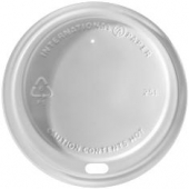 Dome Sipper Hot Cup Lid, White, Fits 10-20 oz Cups