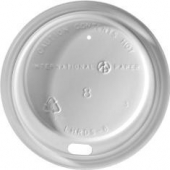 Dome Sipper Hot Cup Lid, White, Fits 8 oz Cups