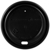 Dome Sipper Hot Cup Lid, Black, Fits 8 oz Cups
