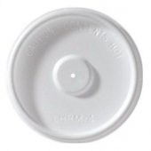 Hot Cup Lid, Flat White, Fits 4 oz Cups