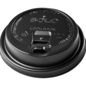 Hot Cup Lid, Black Reclosable Dome Travelock