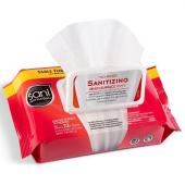 Sani Professional - No-Rinse Sanitizing Multi-Surface Wipes Softpack, 12/72 count
