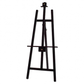Winco - Display Easel, 23.25x1x61 Mahogany Wooden Tripod Display