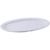 Winco - Platter with Narrow Rim, 13x8 Oval White Melamine
