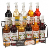 Monin - Syrup Wire Rack, Holds 11 Bottles