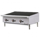 "Spectrum - Gas Charbroiler, 36""x20"" with Natural Gas, Stainless Steel"