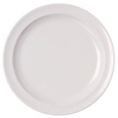 "Dinner Plate, 8"" Melamine White"