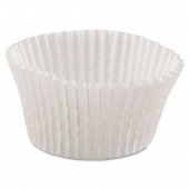 "Baking Cup, White Round Fluted, 2"" bottom, 1.375"" wall"