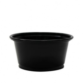 Karat - Portion Cup, 2 oz Black PP Plastic