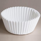 "Baking Cup, White Round Fluted, 2.25"" bottom, 1.875"" wall"
