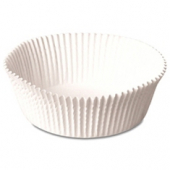"Baking Cup, White Round Fluted, 2.75"" bottom, 1.375"" wall"