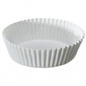 "Baking Cup, White Round Fluted, 3.5"" bottom, 1.5"" wall"