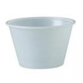 Solo - Souffle Portion Cup, 4 oz Translucent Plastic