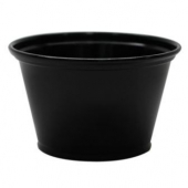 Karat - Portion Cup, 4 oz Black Plastic