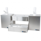 San Jamar - Pump and Condiment Tray Center, 2 Pump Boxes and 4 1 Quart Compartments, 26.125x12x14.75