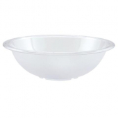 "Winco - Pebbled Salad Bowl, 8"" Clear PC Plastic"