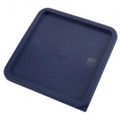 Winco - Food Storage Container Cover, Square Blue Plastic, Fits 12/18/22 qt Containers
