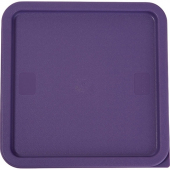 Winco - Food Storage Container Cover, Square Purple Plastic, Fits 12/18/22 qt Containers, Allergen-F