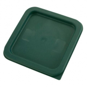 Winco - Food Storage Container Cover, Square Green Plastic, Fits 2/4 qt Containers