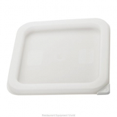 Winco - Food Storage Container Cover, White Plastic Square, Fits 12/18/22 qt Containers
