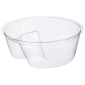 Dart - Single Compartment Cup Insert, 3.5 oz Clear PET Plastic