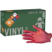 Vinyl Gloves, Large Powder Free Red, 10/100
