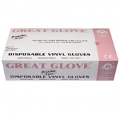 Vinyl Gloves, Powder Free, Medium