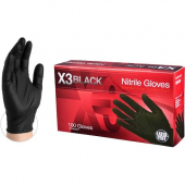 GlovePlus Nitrile Powder Free Gloves, Extra Large Black