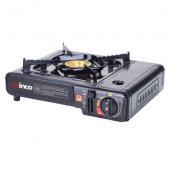 Winco - Portable Gas Stove, 9500 BTU Brass Burner with Black Impact-Resistant Carrying Case