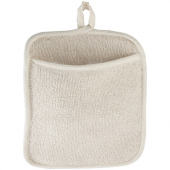 Winco - Pot Holder, White Terrycloth with Pocket, 8.5x9.5