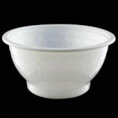 Microwaveable Bowl Combo, 24 oz Round, White Base with Clear Lid
