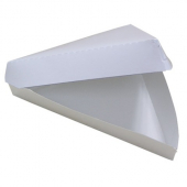 Pizza Slice Clamshell Container, 18/6 Plain White