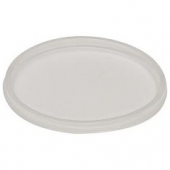 Deli Container Lid, Clear Plastic, Fits 8-32 oz Containers