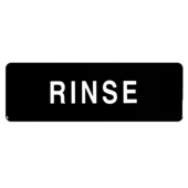 """Rinse"" Sign, 9x3 Black Plastic"