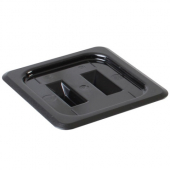 Food Pan Cover, 1/6 Size Solid Black PC Plastic