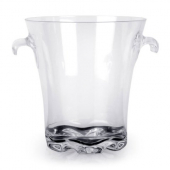 "Ice Bucket, 4 Qt 8.5"" Clear PC Plastic"